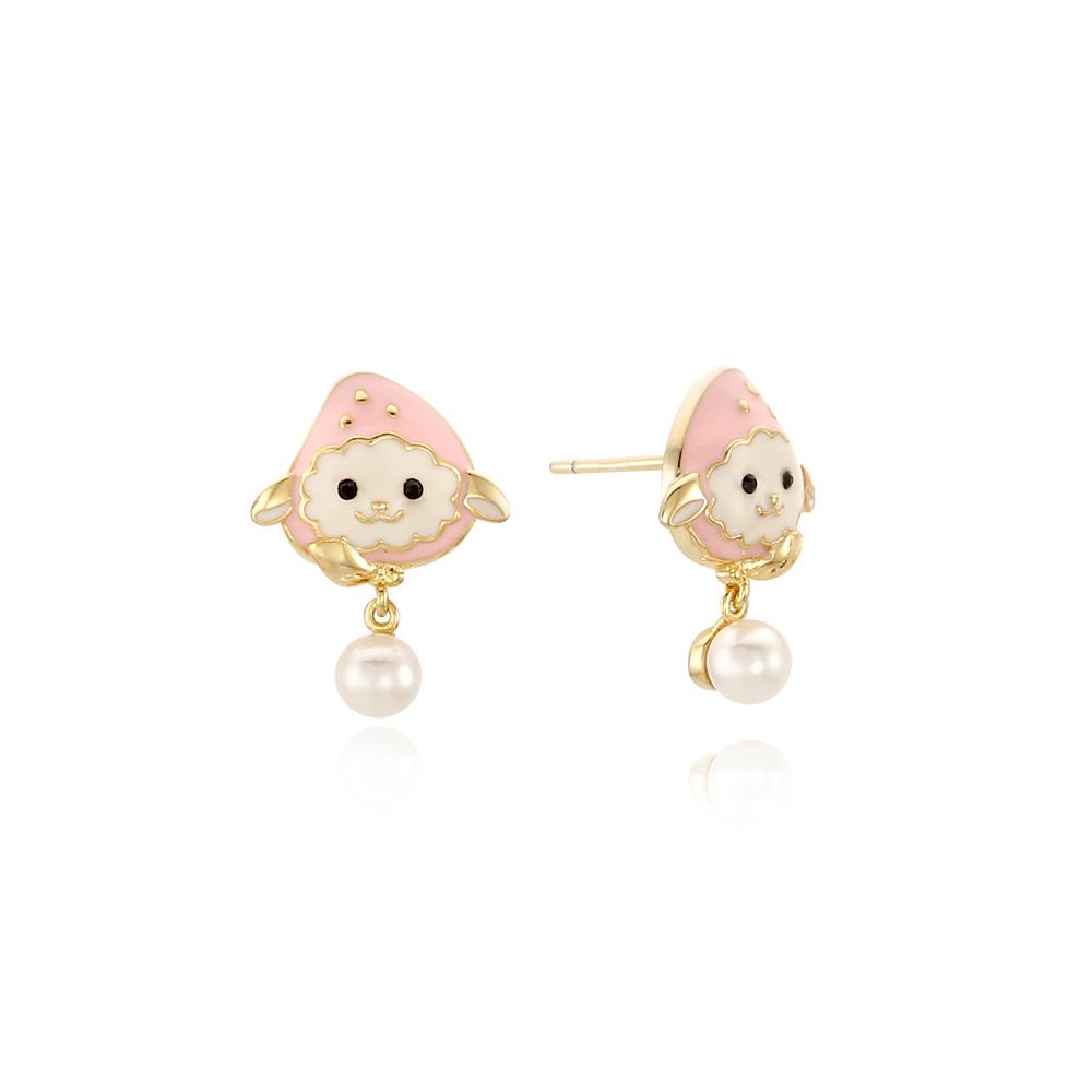 패션 베리베리양 핑크 귀걸이