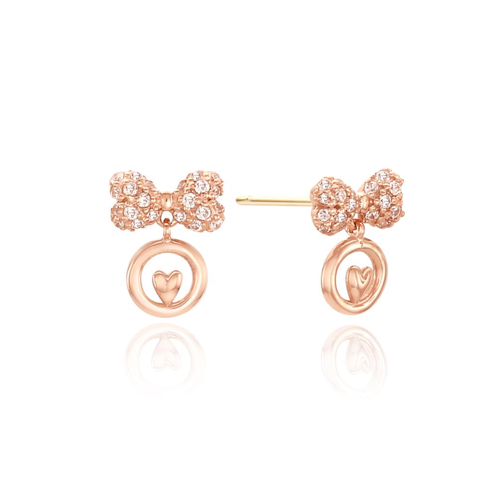 [14k gold] 플럼핑리본 귀걸이
