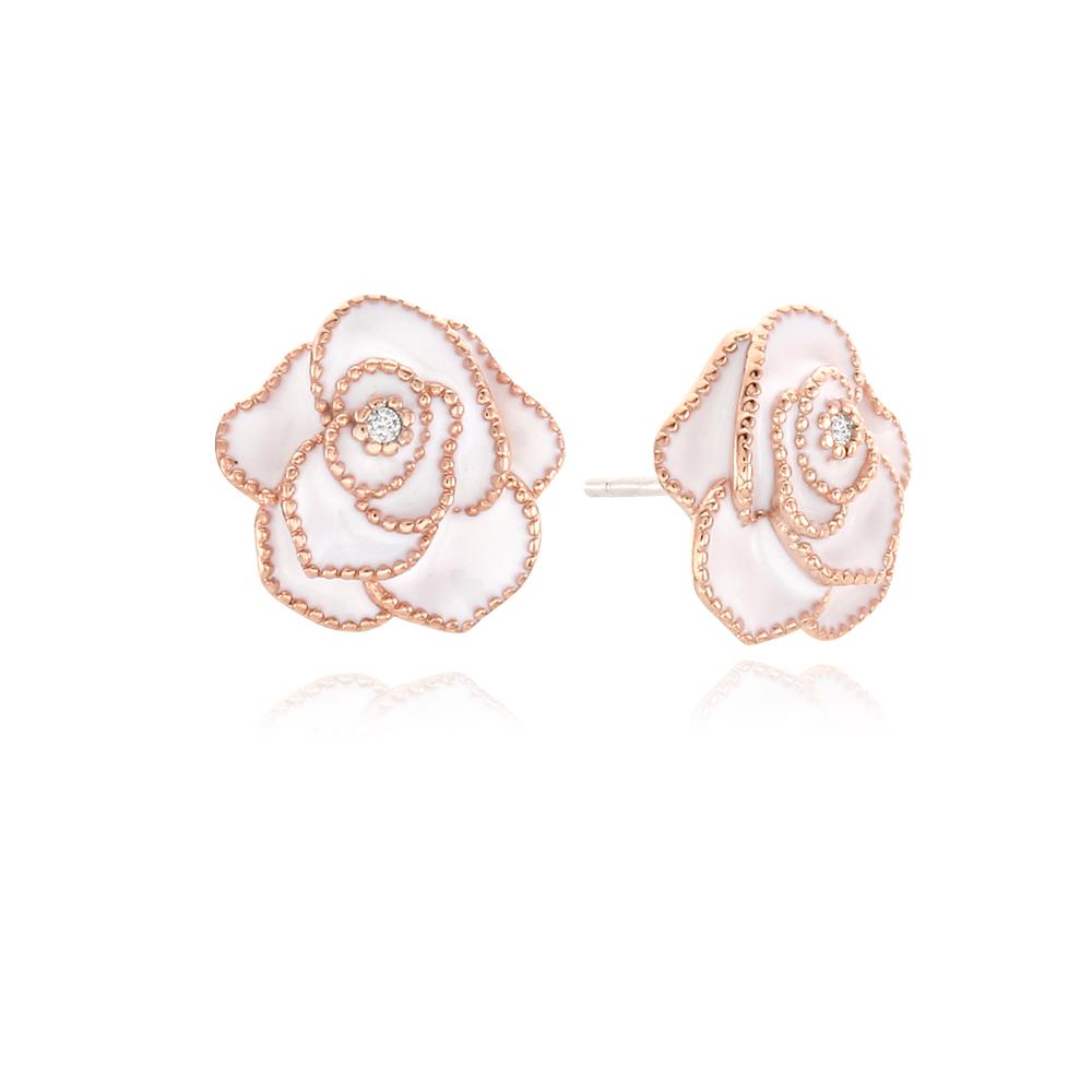[Silver925] 러블리로즈 귀걸이