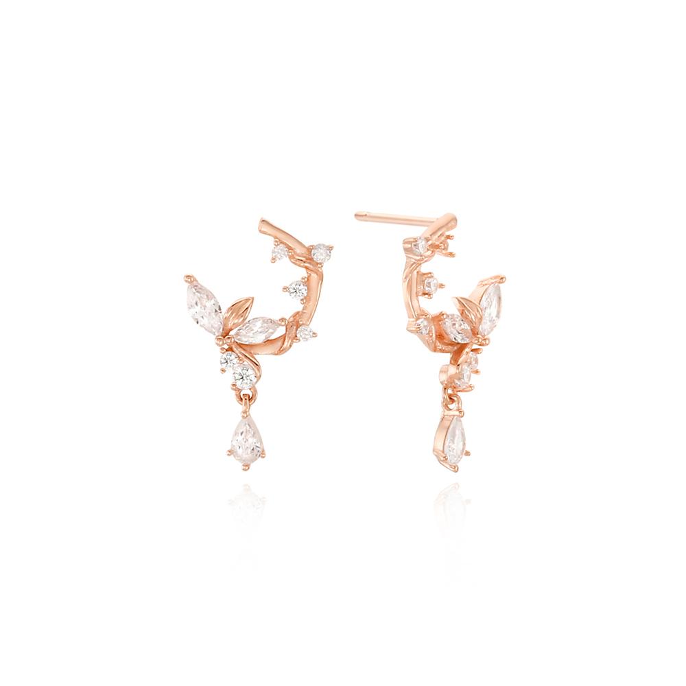 [Silver925] 리프글램 귀걸이