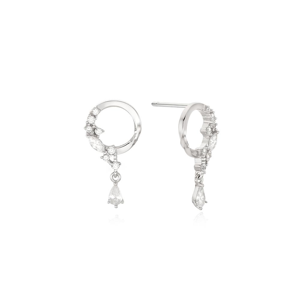 [Silver925] 히든링 귀걸이
