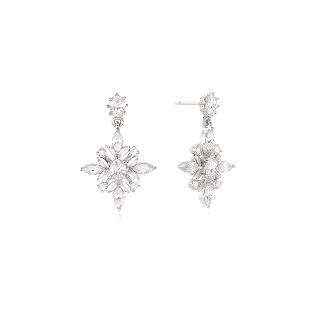[Silver925] 눈의꽃 귀걸이