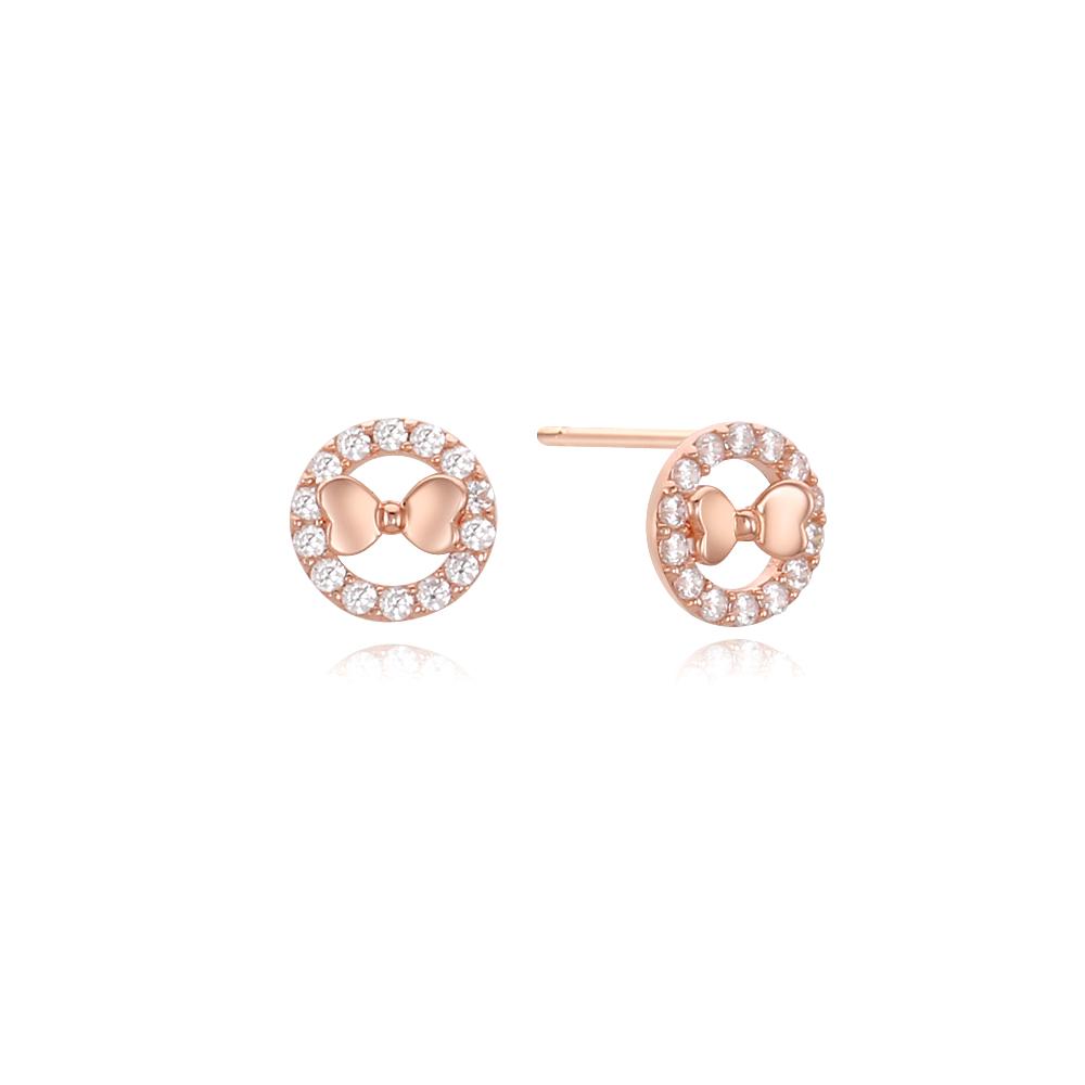 [Silver925] 귀여운 리본 귀걸이