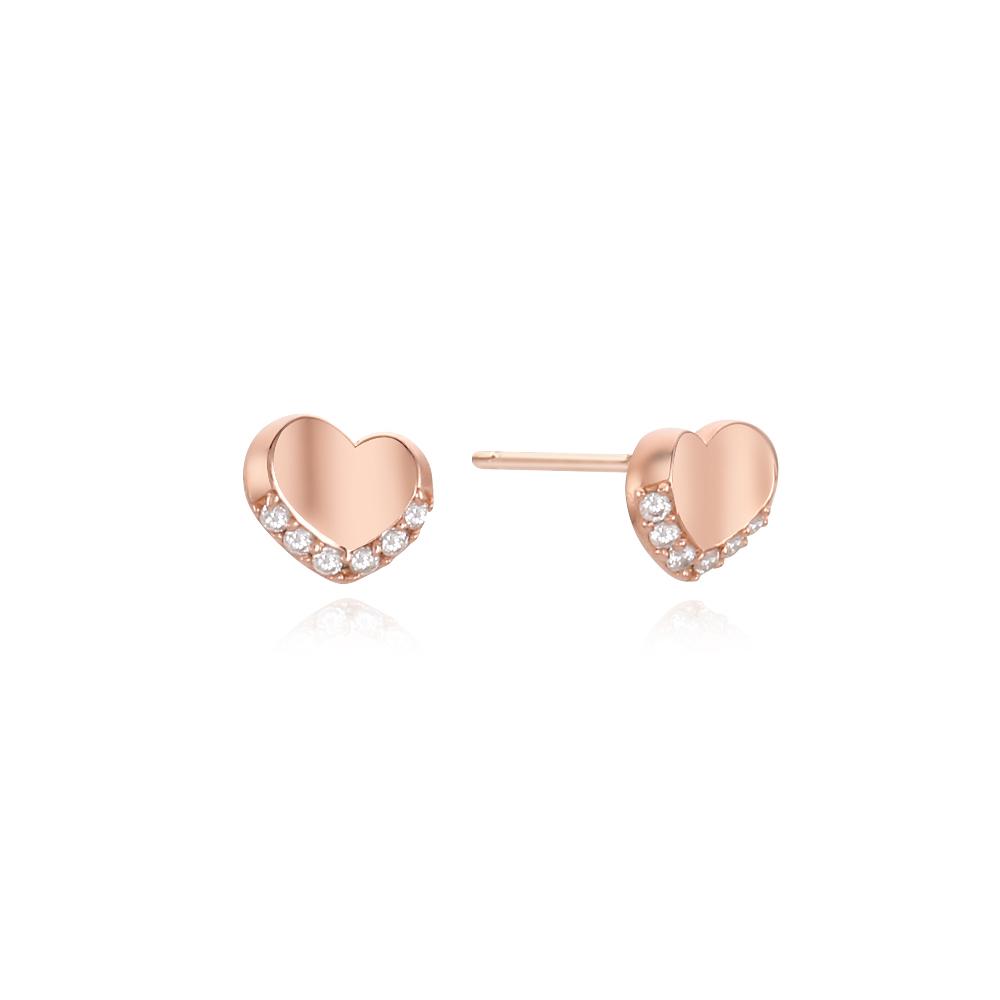 [Silver925] 심플 하트 귀걸이