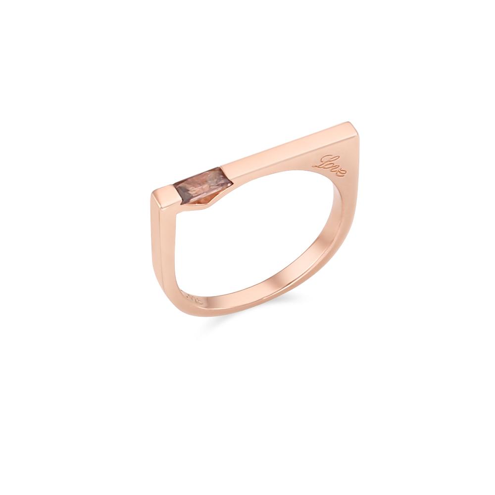 [Silver925] 러브버블 이니셜 반지 (핑크)