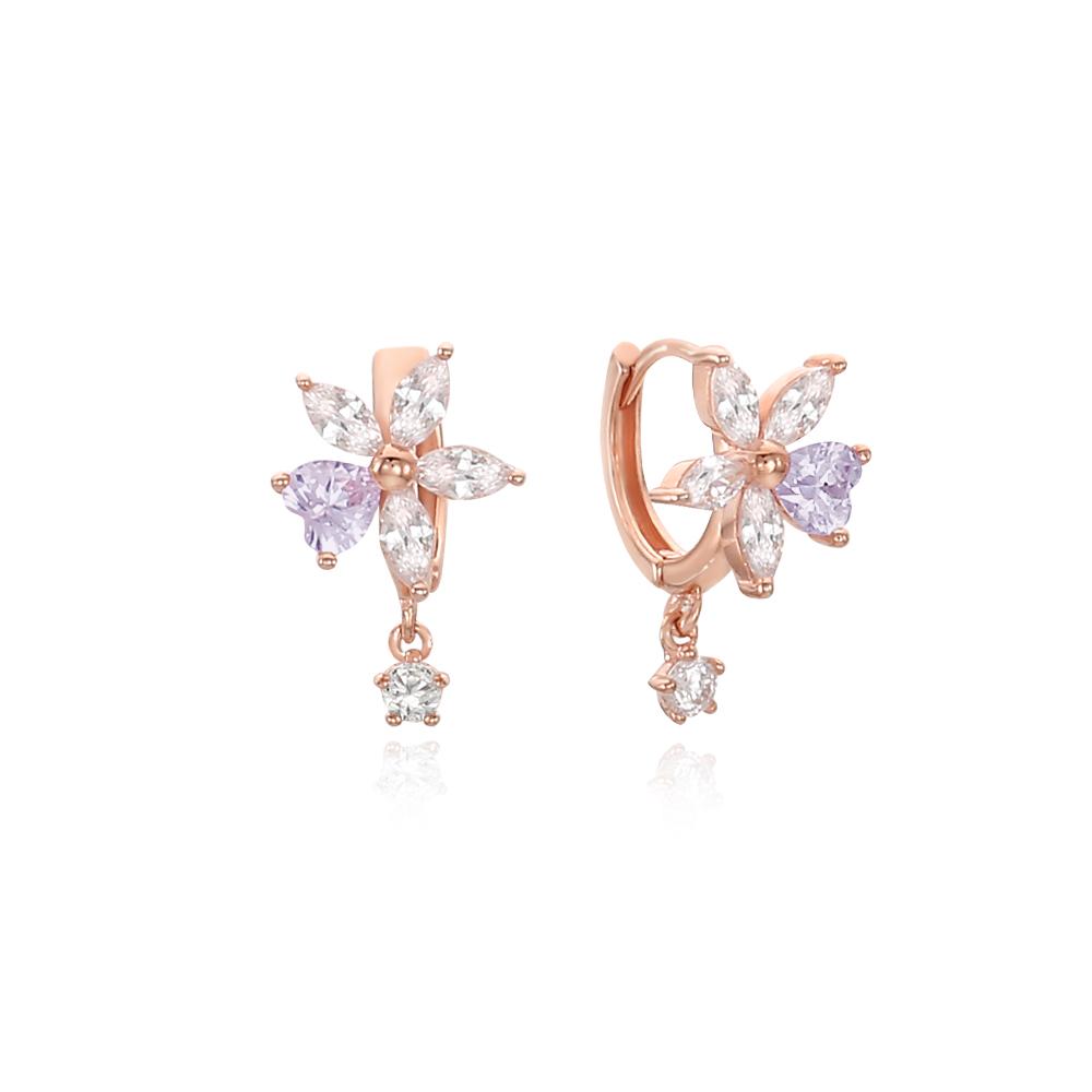 [Silver925] 러브꽃잎 귀걸이