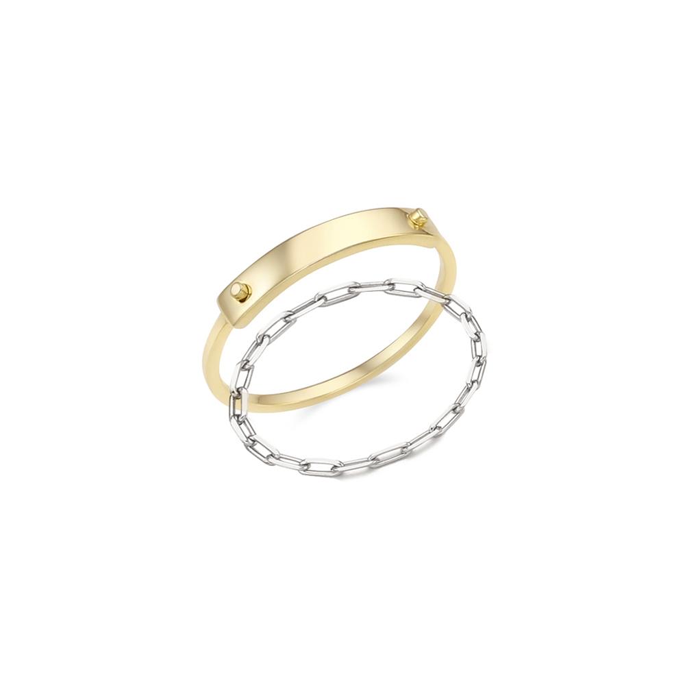 [Silver925] 12월의어느날 메탈형 반지