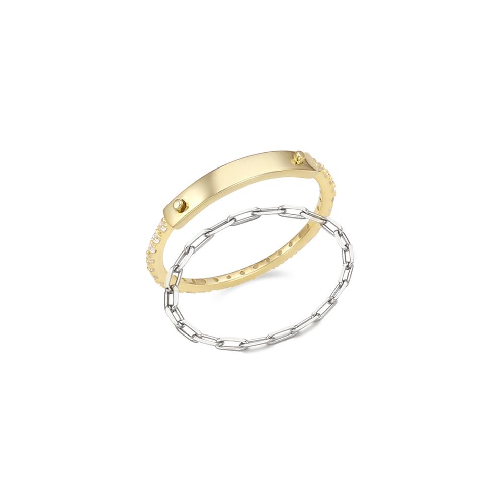 [Silver925] 12월의어느날 스톤형 반지