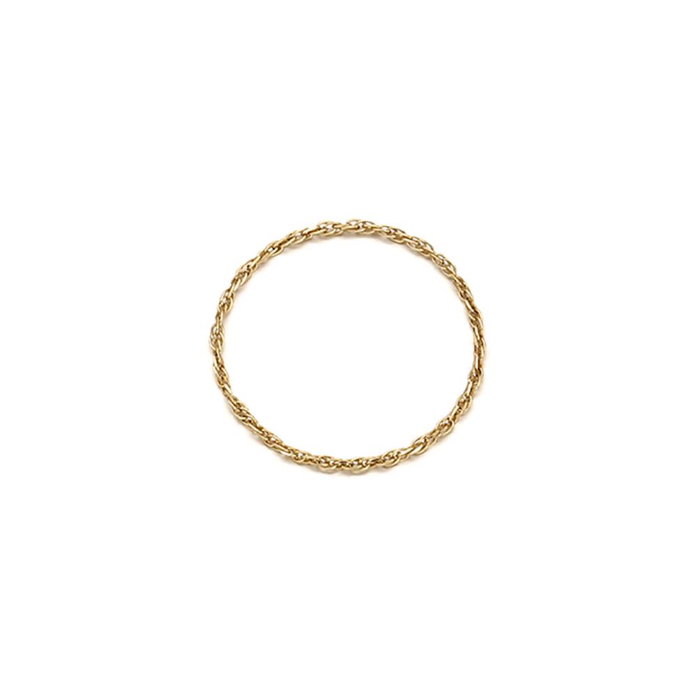 [14k gold] 로프체인 반지