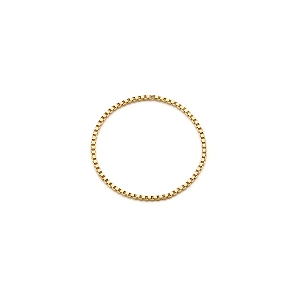 [14k gold] 박스체인 반지