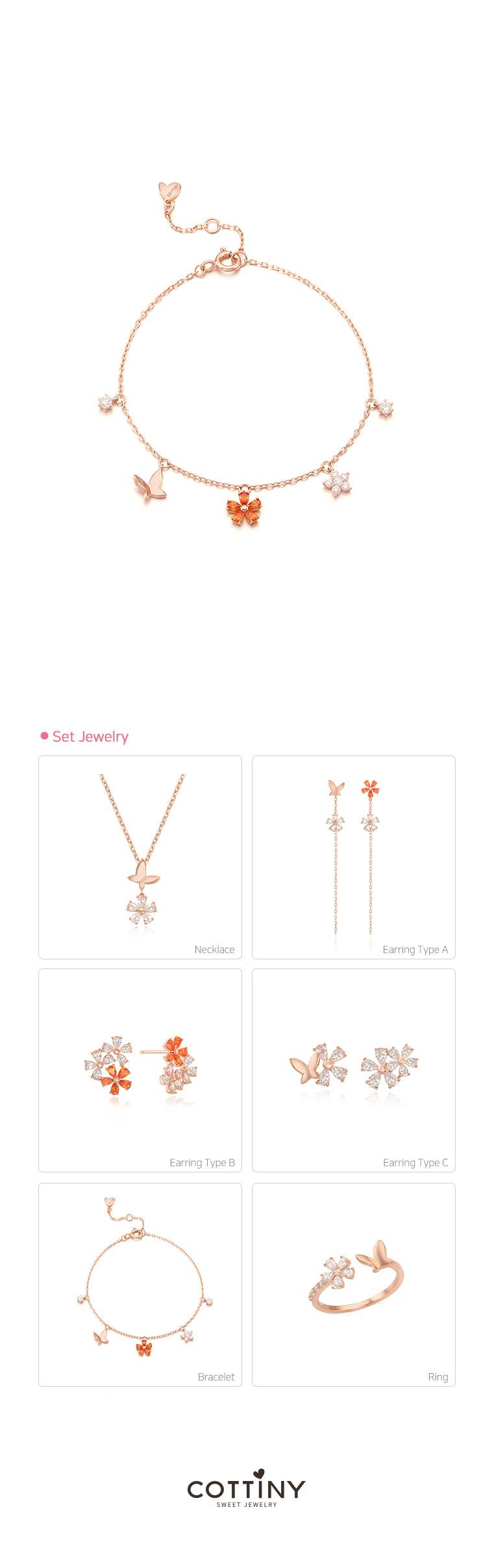 꽃비 팔찌_SBB1011PF - 코티니, 39,000원, 팔찌, 패션팔찌